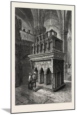 Edward the Confessor's Shrine, Westminster Abbey, London, UK, 19th Century--Mounted Giclee Print