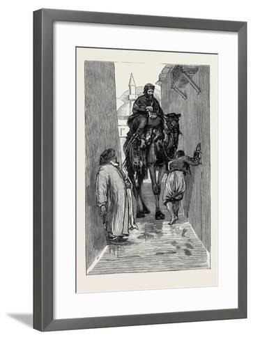 Round the World Yachting in the Ceylon; Smyrna and Ephesus: an Awkward Path--Framed Art Print