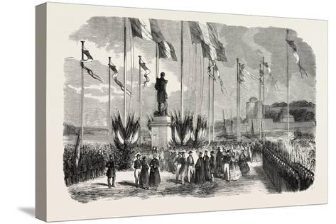 Inauguration of the Statue of Admiral Le Ray, Pornic, August 12, 1855,--Stretched Canvas Print