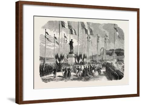 Inauguration of the Statue of Admiral Le Ray, Pornic, August 12, 1855,--Framed Art Print