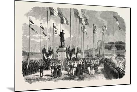 Inauguration of the Statue of Admiral Le Ray, Pornic, August 12, 1855,--Mounted Giclee Print