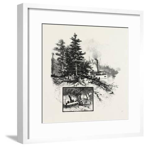 Georgian Bay and the Muskoka Lakes, at the Landing, Rosseau, Canada, Nineteenth Century--Framed Art Print