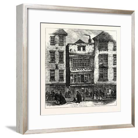 Mrs. Salmon's Waxwork Fleet Street: Palace of Henry Viii. and Cardinal Wolsey London--Framed Art Print