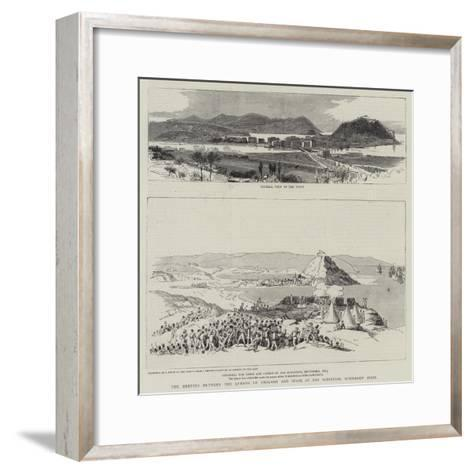 The Meeting Between the Queens of England and Spain at San Sebastian, Northern Spain--Framed Art Print