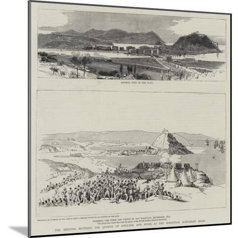 The Meeting Between the Queens of England and Spain at San Sebastian, Northern Spain--Mounted Giclee Print