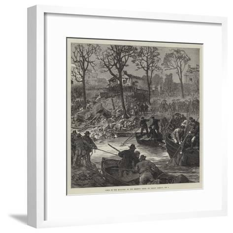 Scene of the Explosion on the Regent's Canal, on Friday Morning, 2 October--Framed Art Print
