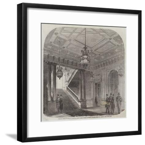 Hall and Great Staircase of the New Junior United Service Club-House, Charles-Street, St James'S--Framed Art Print