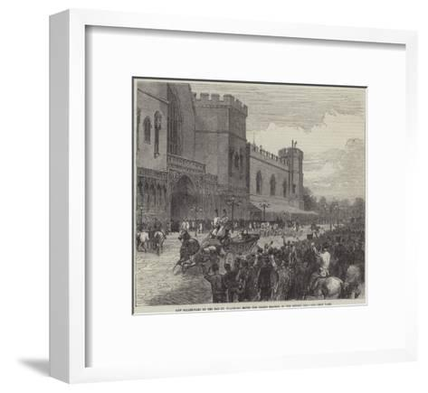 New Palace-Yard on the Day Mr Gladstone Moved the Second Reading of the Reform Bill--Framed Art Print