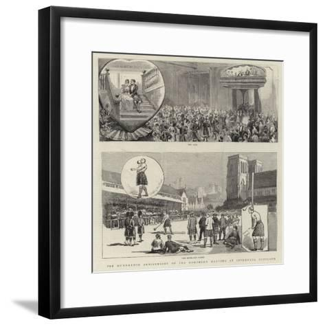 The Hundredth Anniversary of the Northern Meeting at Inverness, Scotland--Framed Art Print