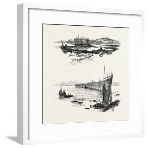 New Brunswick, Salmon Weirs, St. John Harbour, Canada, Nineteenth Century--Framed Art Print