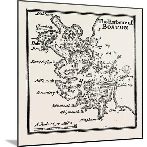 Plan of the Harbour of Boston at the Beginning of the 18th Century, USA, 1870S--Mounted Giclee Print