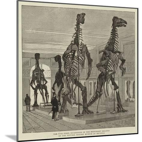 The Five Fossil Iguanodons in the Bernissart Gallery of the Natural History Museum at Brussels--Mounted Giclee Print