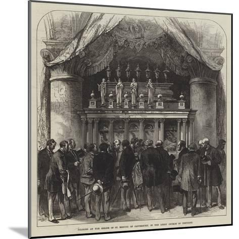 Pilgrims at the Shrine of St Edmund of Canterbury, in the Abbey Church of Pontigny--Mounted Giclee Print