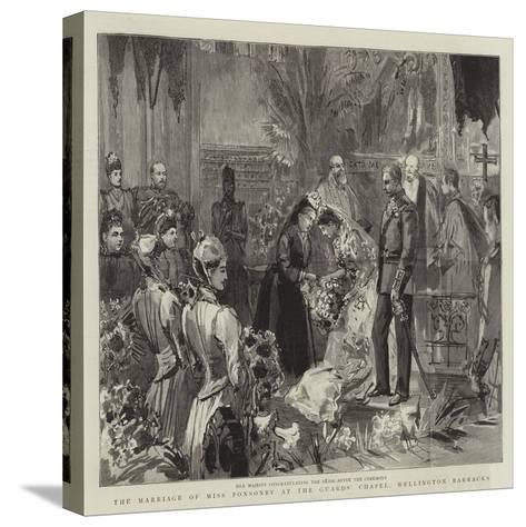The Marriage of Miss Ponsonby at the Guards' Chapel, Wellington Barracks--Stretched Canvas Print