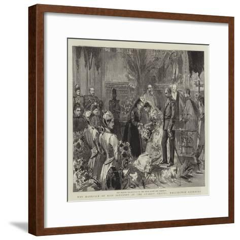 The Marriage of Miss Ponsonby at the Guards' Chapel, Wellington Barracks--Framed Art Print
