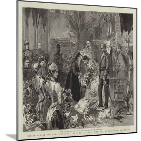 The Marriage of Miss Ponsonby at the Guards' Chapel, Wellington Barracks--Mounted Giclee Print