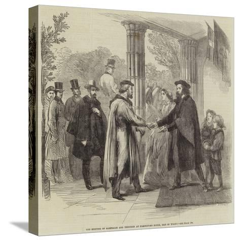 The Meeting of Garibaldi and Tennyson at Faringford House, Isle of Wight--Stretched Canvas Print