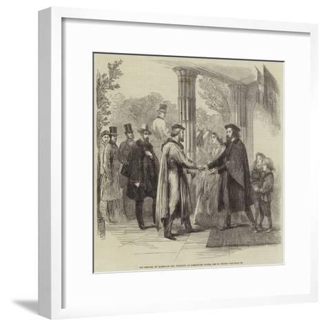 The Meeting of Garibaldi and Tennyson at Faringford House, Isle of Wight--Framed Art Print