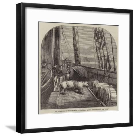 The Expedition in Search of Sir J Franklin, Arctic Bear on Board the Fox--Framed Art Print
