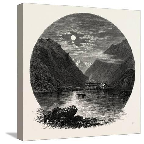 The Grimsel Hospice, Grimsel Hospiz, Switzerland, the Passes of the Alps, 19th Century--Stretched Canvas Print