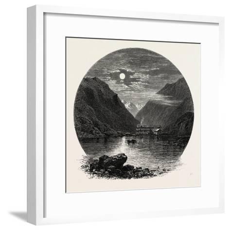 The Grimsel Hospice, Grimsel Hospiz, Switzerland, the Passes of the Alps, 19th Century--Framed Art Print