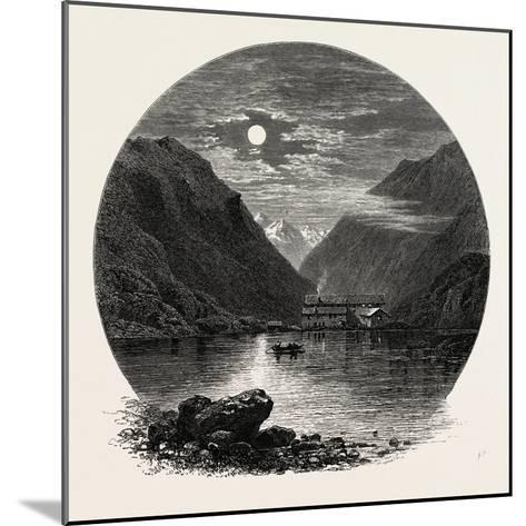 The Grimsel Hospice, Grimsel Hospiz, Switzerland, the Passes of the Alps, 19th Century--Mounted Giclee Print