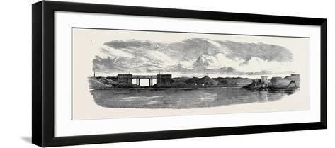 The War in Egypt: the Aboukir Forts; Railway Bridge on the Alexandria and Rosetta Line--Framed Art Print