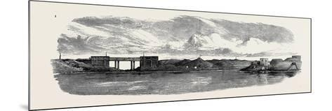 The War in Egypt: the Aboukir Forts; Railway Bridge on the Alexandria and Rosetta Line--Mounted Giclee Print