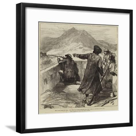 The Royal Visit to India, the Prince of Wales Shooting His First Tiger at Jeypore, First Shot--Framed Art Print