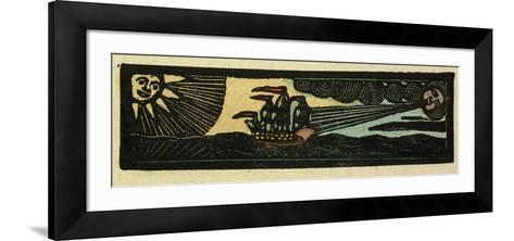 Illustration of English Tales Folk Tales and Ballads. a Ship Being Blown by the Wind--Framed Art Print