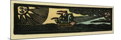 Illustration of English Tales Folk Tales and Ballads. a Ship Being Blown by the Wind--Mounted Giclee Print