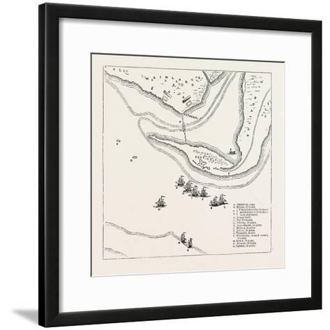 Plan of Attack on Sullivan's Island, from Faden's Atlas, USA, 1870S--Framed Art Print