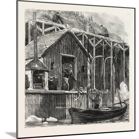 The Newfoundland Fisheries Question: British Fishing Room on the French Shore, Canada, 1890--Mounted Giclee Print