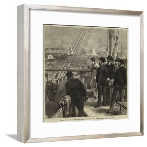 The Prince of Wales at the Royal Thames Yacht Club Match, Yachts Rounding the Club Steamer--Framed Art Print