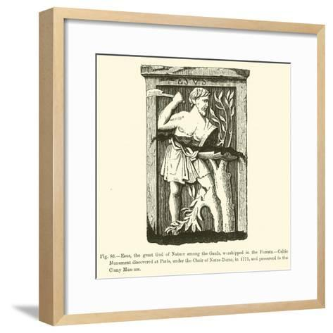 Esus, the Great God of Nature Among the Gauls, Worshipped in the Forests--Framed Art Print