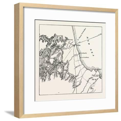 Map Showing the Place Where Baker Pasha Was Defeated February 4 1884 and the Routes from the Coast --Framed Art Print
