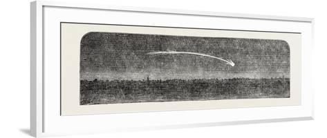 Remarkable Meteor Seen from the London and Blackwall Extension Railway, UK, 1851--Framed Art Print