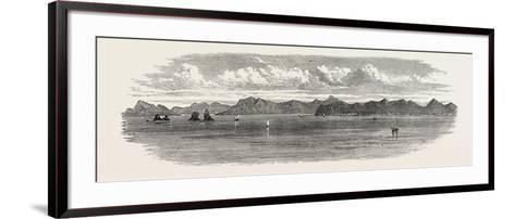 The Inland Sea of Japan: the Bingo Nada, with Yosima Island and Villages. 1868--Framed Art Print