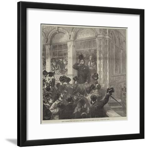 Grand National Hunt and Bristol Races, Arrival of the Prince of Wales at the Grand Stand--Framed Art Print