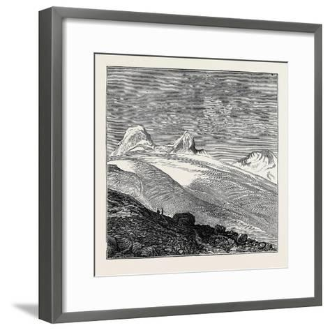 The King of Italy's Hunting Quarters in the Aosta Valley: Foot of the Glacier of Moncarné--Framed Art Print