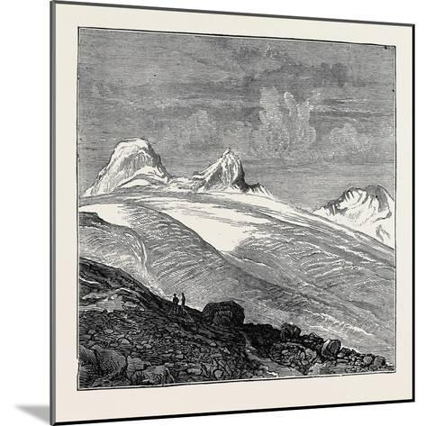 The King of Italy's Hunting Quarters in the Aosta Valley: Foot of the Glacier of Moncarné--Mounted Giclee Print