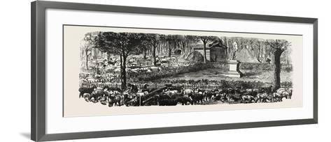 Franco-Prussian War: the Last in the Luxembourg Gardens Housed Sheep, France--Framed Art Print