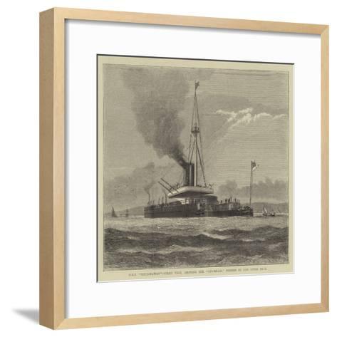 HMS Devastation, Stern View, Showing the Cul-De-Sac Formed by Her Upper Deck--Framed Art Print