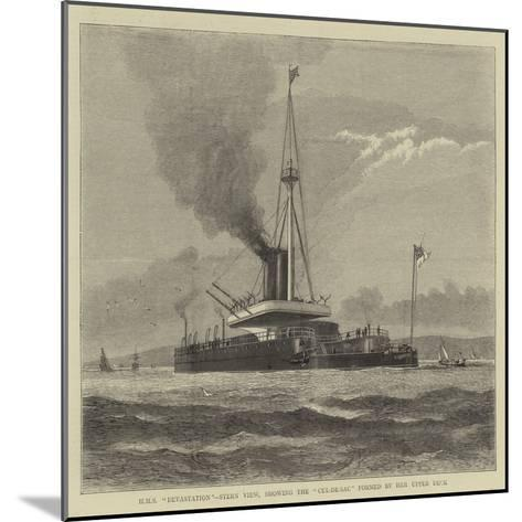 HMS Devastation, Stern View, Showing the Cul-De-Sac Formed by Her Upper Deck--Mounted Giclee Print