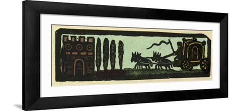 Illustration of English Tales Folk Tales and Ballads. a Coach Drawn by Four Horses on the Road to a--Framed Art Print