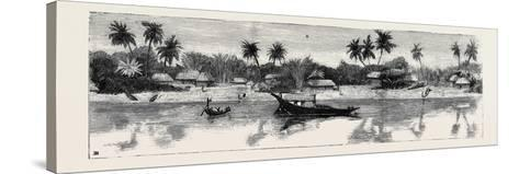 Round the World Yachting in the Ceylon, Calcutta: the Banks of the Hooghly--Stretched Canvas Print
