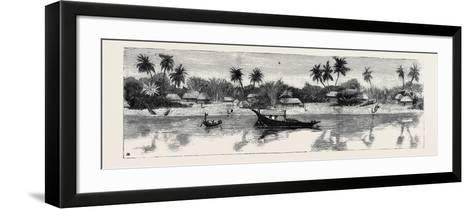 Round the World Yachting in the Ceylon, Calcutta: the Banks of the Hooghly--Framed Art Print