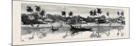 Round the World Yachting in the Ceylon, Calcutta: the Banks of the Hooghly--Mounted Giclee Print