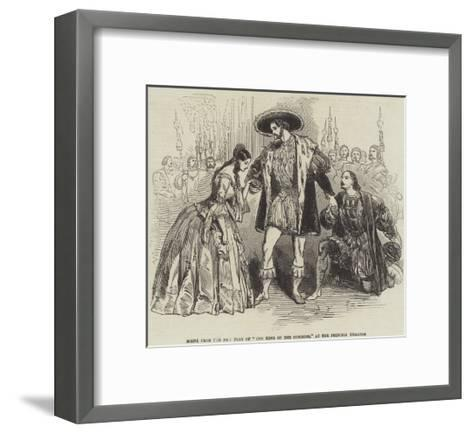 Scene from the New Play of The King of the Commons, at the Princess Theatre--Framed Art Print
