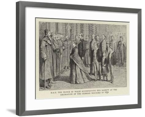 H R H the Prince of Wales Accompanying Her Majesty at the Decoration of the Crimean Wounded in 1856--Framed Art Print